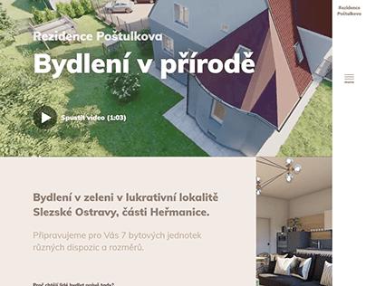 Tvorba webu - Rezidence Poštulkova (2020)