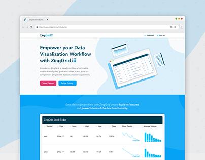 ZingGrid + ZingChart Landing Page