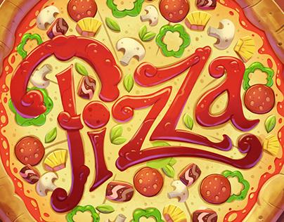 Pizza - Board game visual development