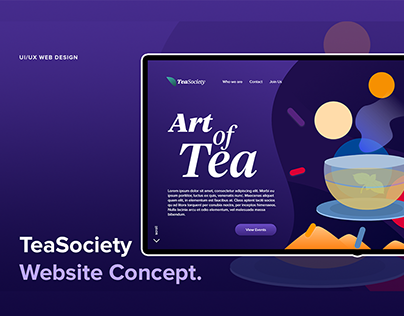 TeaSociety - Landing Page Design
