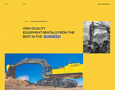Excavator Rental Services / UX / UI design / website