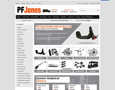 PF Jones ebay shop design