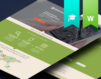 Web Design - Geocaching | UI/UX Landing Page Concept