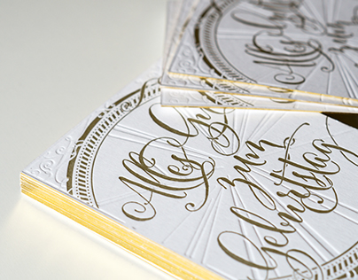 Letterpress Card – Gold