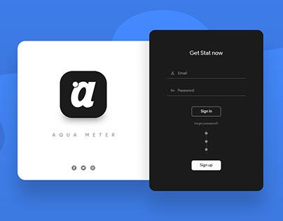 Aqua Meter Login From Design - UI / UX