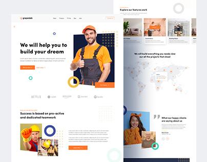 Builder's Landing Page