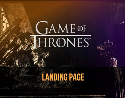 DailyUI #003 -Game of thrones Landing Page