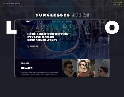 Sunglasses E-commerce Store (Home page & Logo)