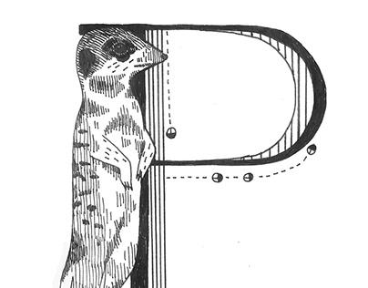 Meerkat alphabet stamps