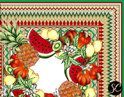 Fruits Print for Scarf Me