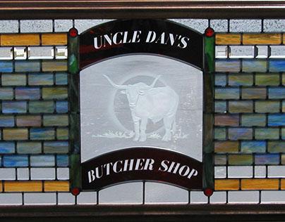 Butcher Shop Leaded Panel - Original Design
