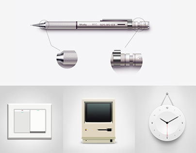 Skeumorphism Design (2015)