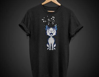 musical cat T-shirt design