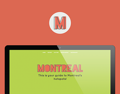 Montreal Hotspots / One-page website