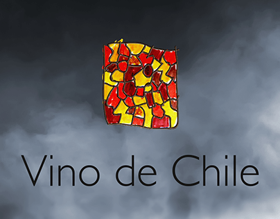 A line of Chilean wines