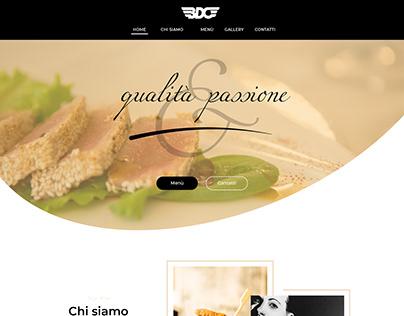 BDO Restaurant | Web Design - Landing Page