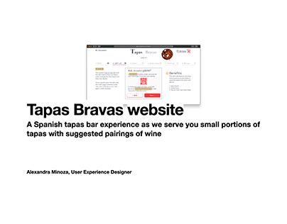 Tapas Bravas website: Portfolio UX case study