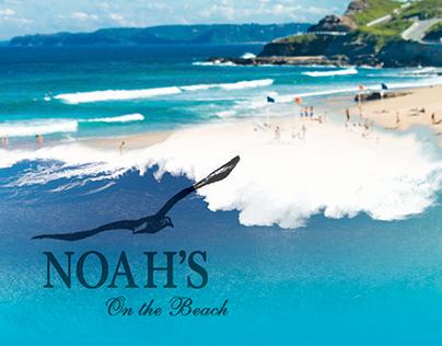 Noah's on the Beach graphic design