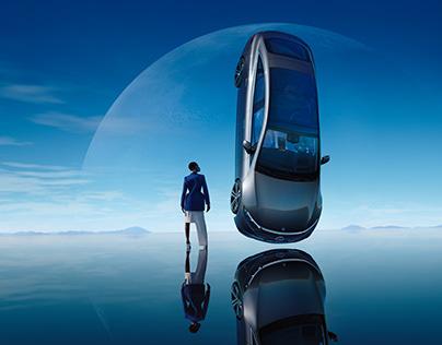 Mercedes EQS with Cedric Viollet