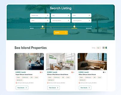Real Estate Property Listing UI Design