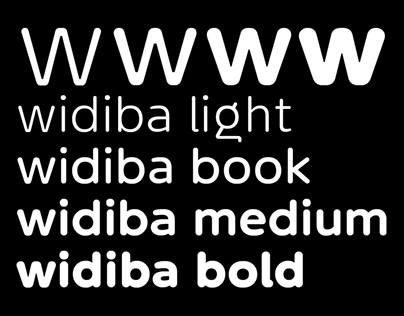 widiba / institutional font