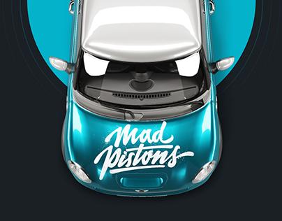 Mad Pistons: identity, interior & landing page