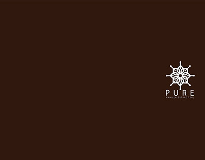 Pure Vanilla Extract Oil Logo and Branding