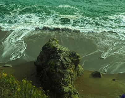 le dessin des vagues