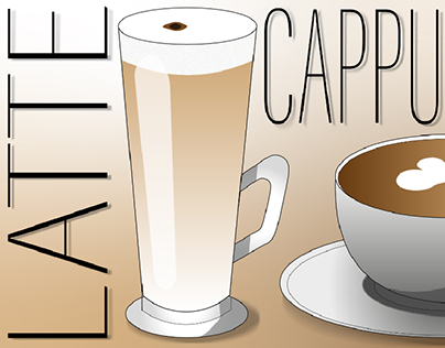 coffee drawing in illustrator