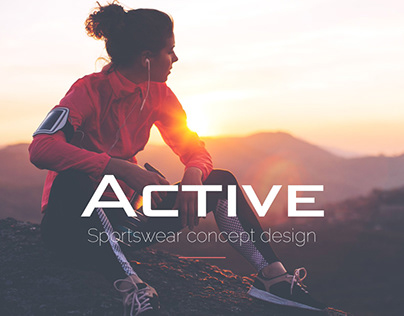 Sportswear concept design // E-commerce // Website