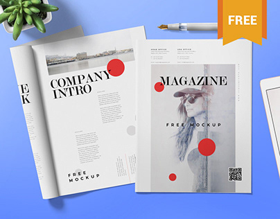 Free Magazine Ad Mock Up
