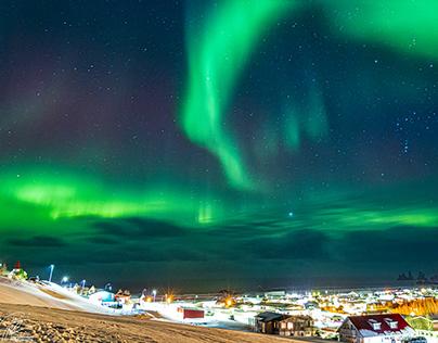 Beautiful evening to admire the aurora - Vik, Iceland