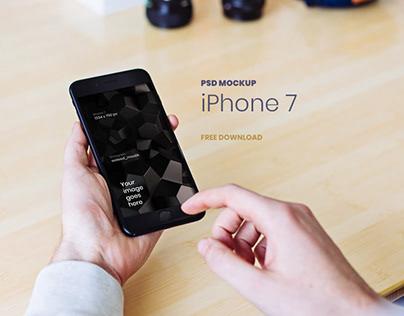 iPhone 7 PSD Mockup FREE