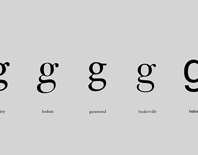 """Typographic Experiment with letter """"g"""""""