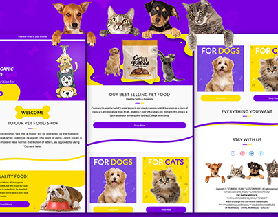 Pet Food Email Template   Email Newsletter
