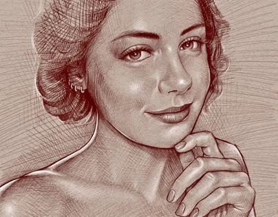 Portrait of Danae
