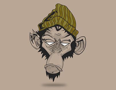 Monkey t-shirt design