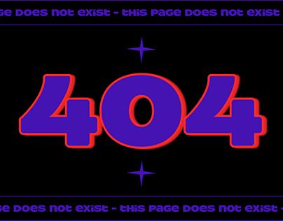 404 error #dailyui