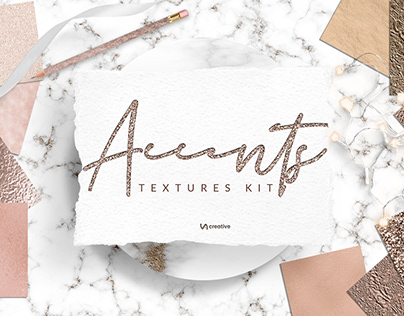 Accents textures kit | Gold, Rose gold, Copper, Marble