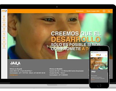 Diseño sitio web: Jaime Arteaga & Asociados