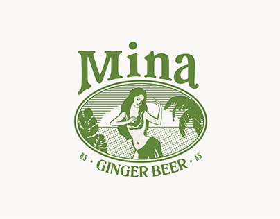 Branding Mina Ginger Beer