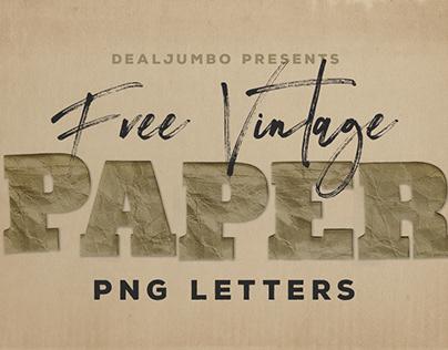 Free Vintage Paper PNG Letters