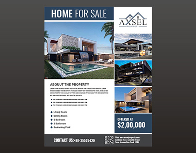 My Latest Project Real Estate Flyer Design