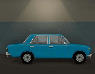 "VAZ 2101 / Car for game ""Restricted Area"""