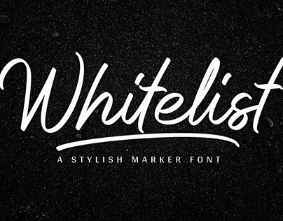 Whitelist - Marker Font