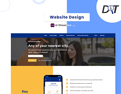 Delivery App Web Design