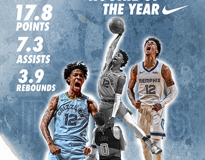 Banner Ja Morant Rookie of The Year Edition