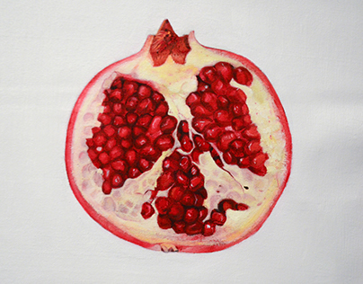 Pomegranate | oil painting on canvas