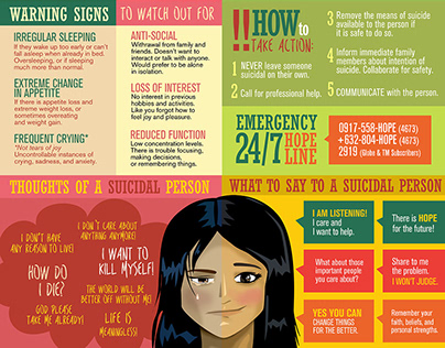 First aid: Suicide Prevention (graphics&illustration)