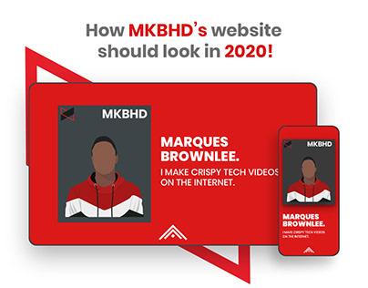 MKBHD website redesign | UIUX
